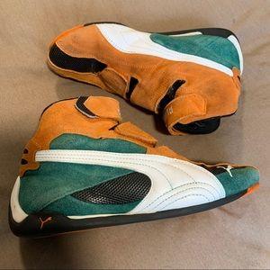 Puma | Suede Orange & Green Runners